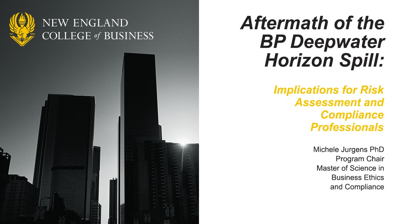 evaluation of a business code of ethics on bp oil spill 2 did bp engage in purposeful avoidance of risk management did bp engage in purposeful avoidance of risk management bp oil spill accounting & business ethics.