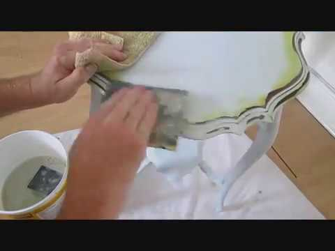 How best to do shabby chic  painted furniture, step by step video
