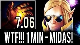 WTF! VALVE FIX IT PLEASE !!! 1 MIN - MIDAS [INVOKER] WORLD RECORD! EZ WIN DOTA 2