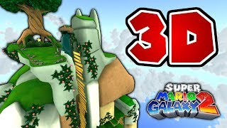 What happens if you remove 2D restrictions in Honeybloom Galaxy? (Super Mario Galaxy 2)