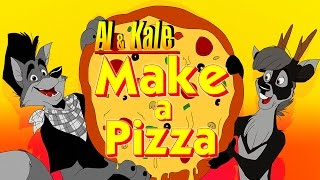 Al & Kale make a pizza