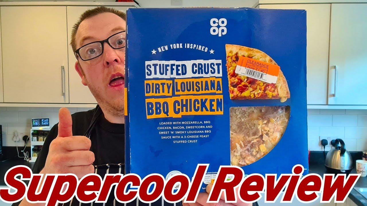 Co Op Stuffed Crust Dirty Louisiana Bbq Chicken Pizza Supercool Review Youtube