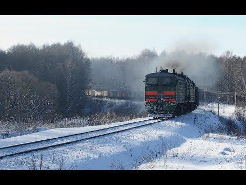 Новогоднее Ожерелье. Перегон Ожерелье - Мордвес Московской железной дороги зимой.