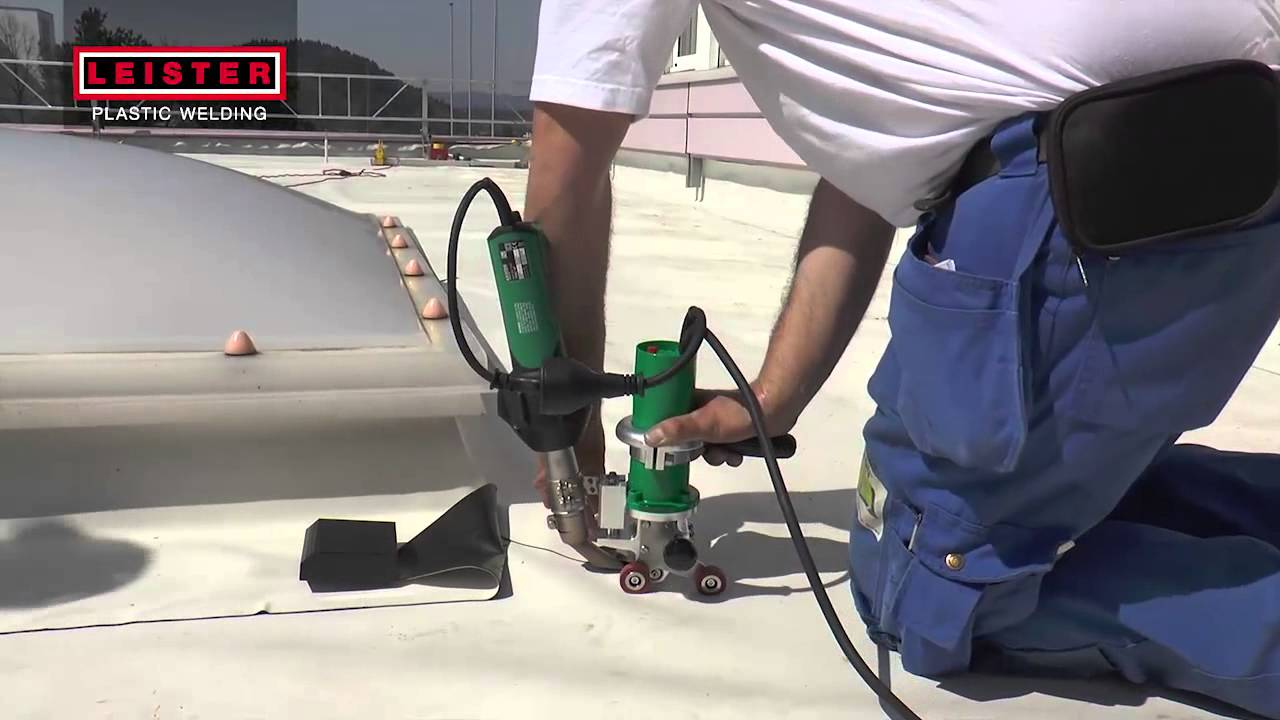 Leister Triac Drive Roof Hot Air Welding Youtube