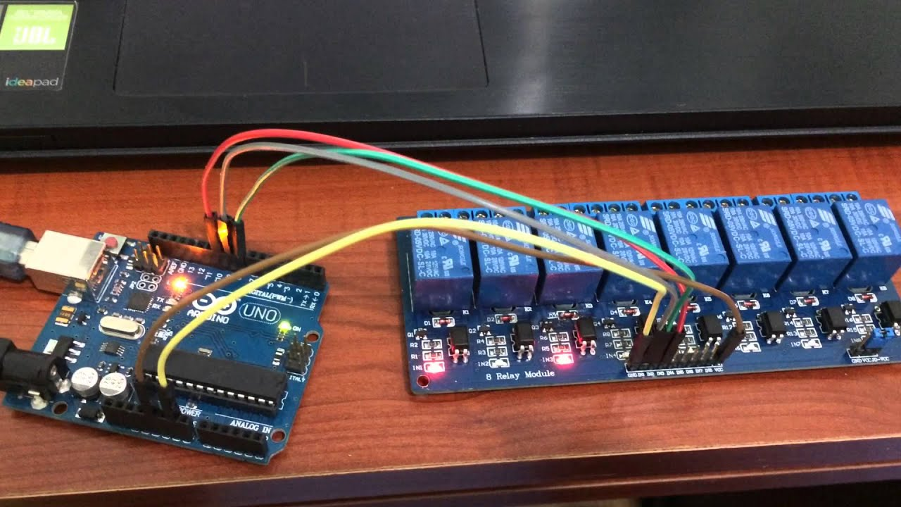 5V 8 Channel Relay Module For Arduino from banggood.com - YouTube