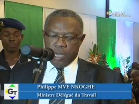 Décoration des agents de la Banque Internationale pour le Commerce et l'Industrie du Gabon