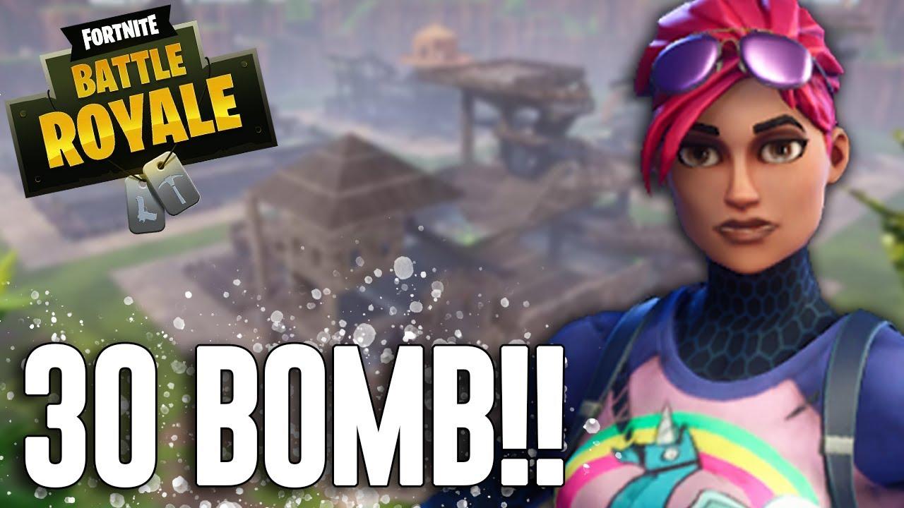 30 Bomb Fortnite Battle Royale Gameplay Ninja Youtube