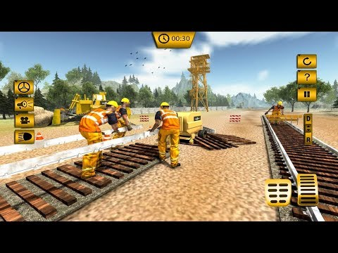 Indian Train Track Construction: Train Games 2017 Android Gameplay