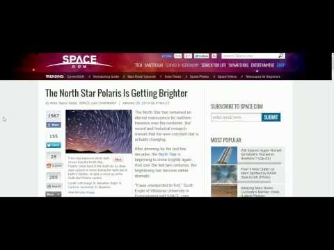 North Star Polaris Brightens and the Connection to Orion & The Giza Pyramid (14th Feb 2014)