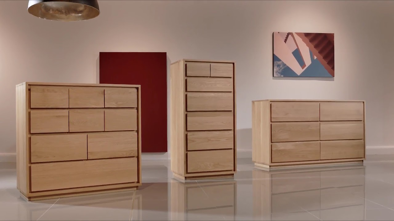 Tobias 2 Drawer Bedside Table Solid Walnut 45x45x5