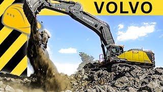 Volvo EC950E - das 90 Tonnen Monster! Größter Volvo Bagger in Aktion!