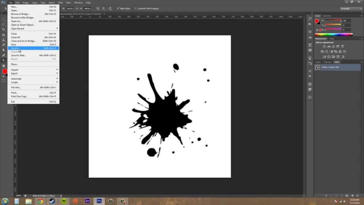 Photoshop cs6 tutorial 165 exporting paths to illustrator photoshop cs6 tutorial 165 exporting paths to illustrator youtube baditri Gallery