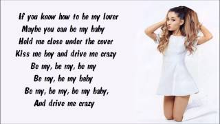 Ariana Grande - Be My Baby Karaoke / Instrumental with lyrics on screen