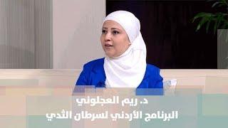 د. ريم العجلوني - البرنامج الأردني لسرطان الثدي - حملات ومبادرات