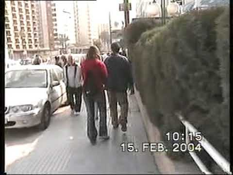 Benidorm 15 February 2004 (unedited footage originally from Video8 tapes).