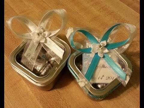 DIY Tin Favor Box  with Lid Tutorial for Any Occasion