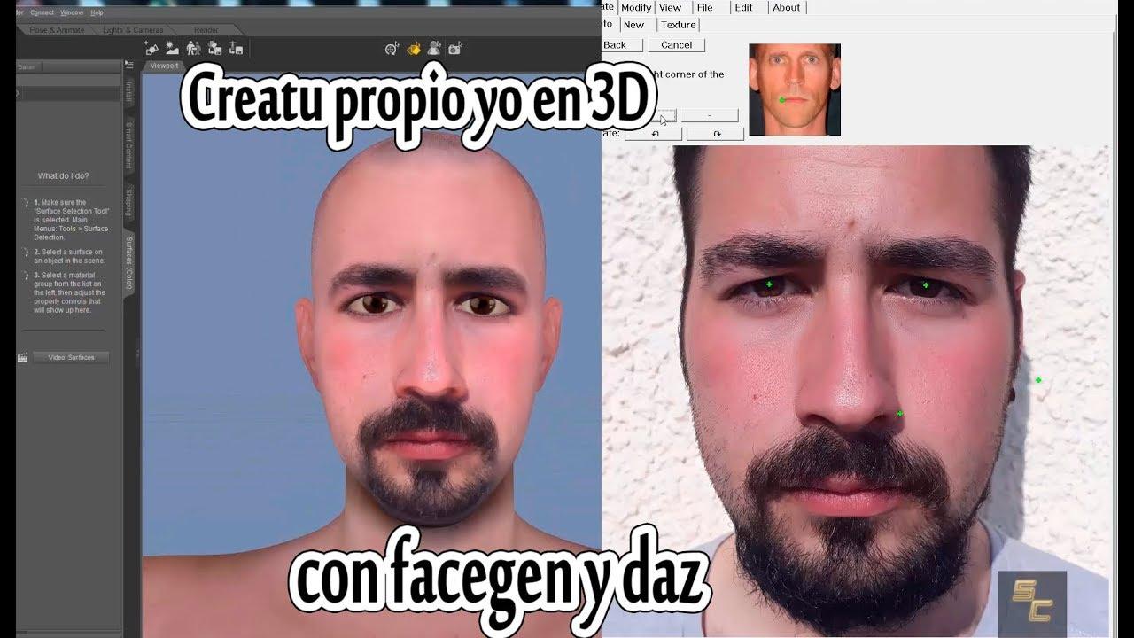 crea tu propio yo en 3D con Facegen y Daz | tutorial