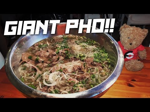 Giant Vietnamese Pho King Challenge In Atlanta, Georgia!!
