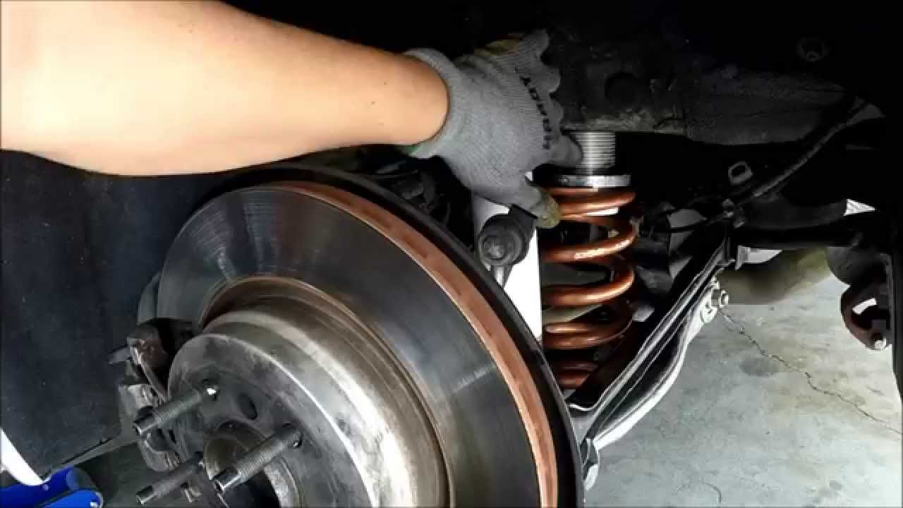 Easy Coilover Adjustment DIY - BMW E90, E92, E93, E82 - YouTube