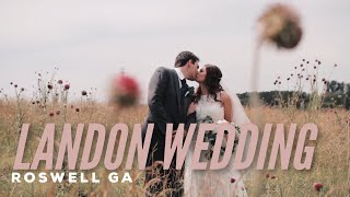 Roswell Historic Cottage Wedding // Alexis & David
