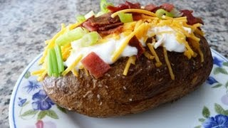 Perfect Baked Potato stuffed with Cheese and Bacon!