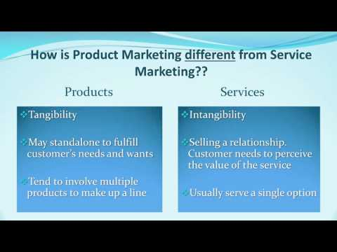 Product Marketing Vs Service Marketing By Clara Carozza MAR3023