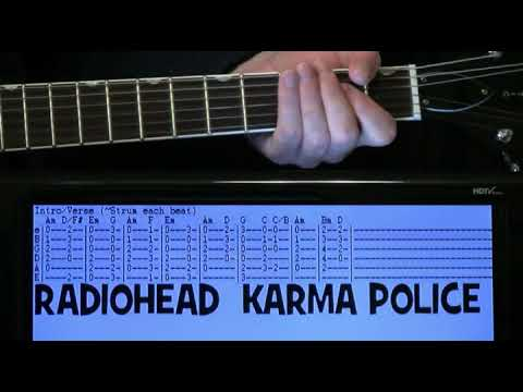 Radiohead Karma Police Guitar Chords Lesson With Tab