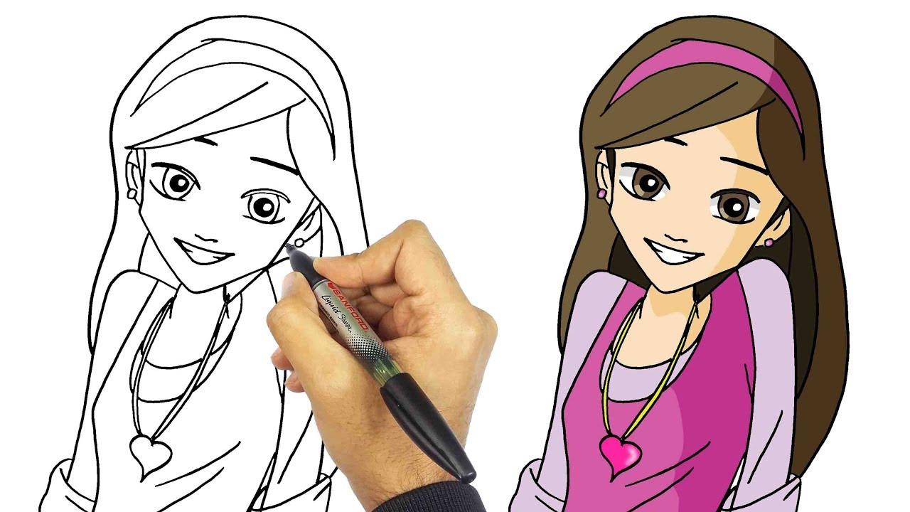 تعليم الرسم كيف ترسم دانية شافعي من كرتون دانية خطوة بخطوة