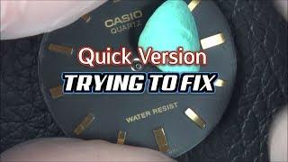 Trying to FIX: CASIO Quartz WATCH (QUICK VERSION)