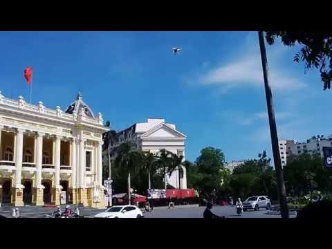 Drone flight in front of Hanoi Opera House