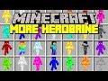 Minecraft MORE HEROBRINES MOD!   RAINBOW, GREEN, BLUE, RED, PURPLE HEROBRINE!   Modded Mini-Game