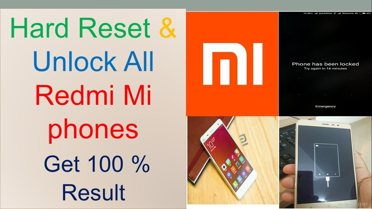 Redmi 4 pattern lock All Mobaile unlock Mi Hard Reset unlock - YouTube