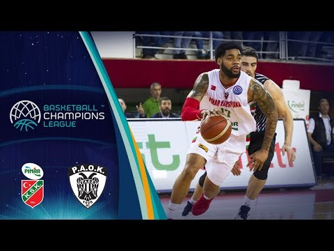 Pinar Karsiyaka v PAOK - Full Game - Round of 16 - Basketball Champions League 2017-18
