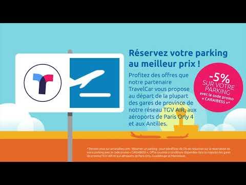 Air Caraïbes en partenariat avec TravelCar vous proposent une solution économique  de parking !