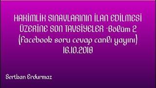HAKİMLİK SINAVLARI İLANI ÜZERİNE SON TAVSİYELER-2