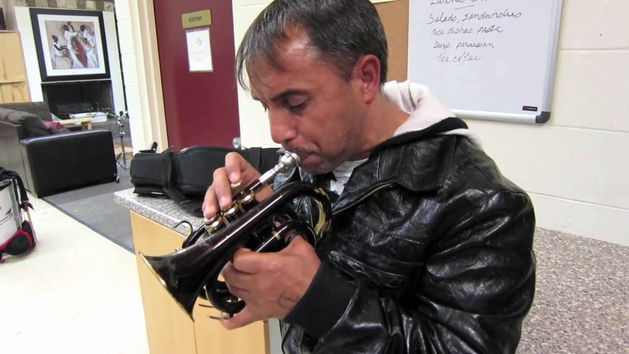 demiran jazzing on a pocket trumpet youtube