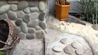 видео Облицовка стен натуральным камнем