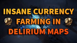 EASY Currency Farming With Delirium Maps For INSANE Profit! Path of Exile 3.10
