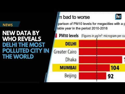 Delhi is the world's most polluted city as per the new data