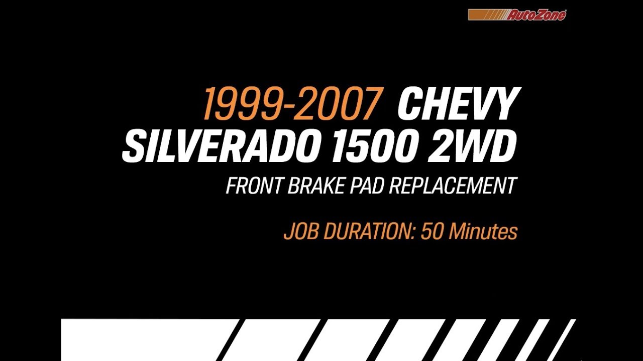 hight resolution of how to change front brake pads for chevy silverado 1999 2007 make model series