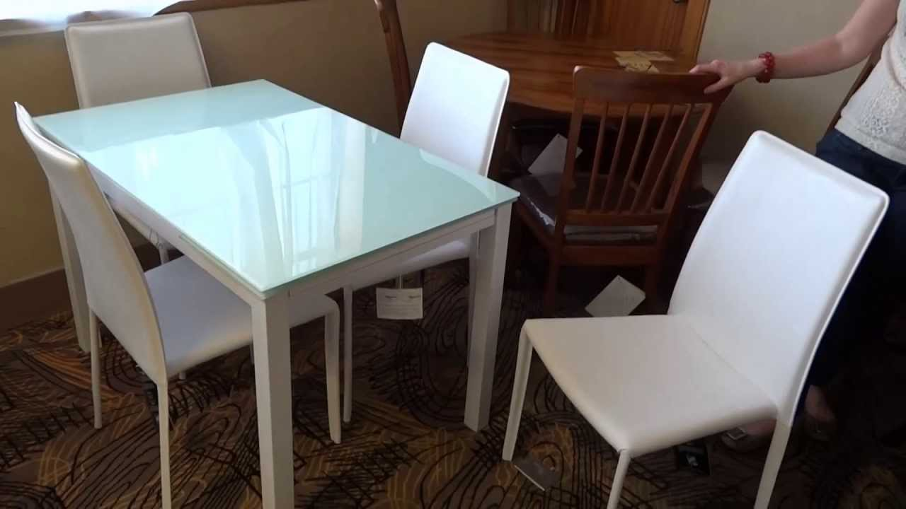 Ashley Furniture Baraga White Dining Table Set D Review YouTube - Ashley furniture white dining table