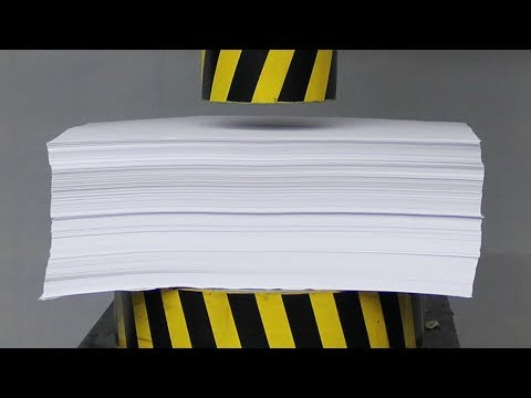 Thumbnail: EXPERIMENT HYDRAULIC PRESS 100 TON vs 1000 Sheets of Paper