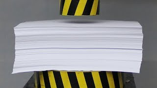 EXPERIMENT HYDRAULIC PRESS 100 TON vs 1000 Sheets of Paper thumbnail