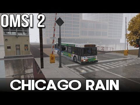 OMSI 2 - Chicago Rain - Route 124 From Navy Pier