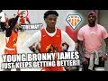 """""""TREWAY!"""" Bronny James KEEPS GETTING BETTER & BETTER!! 