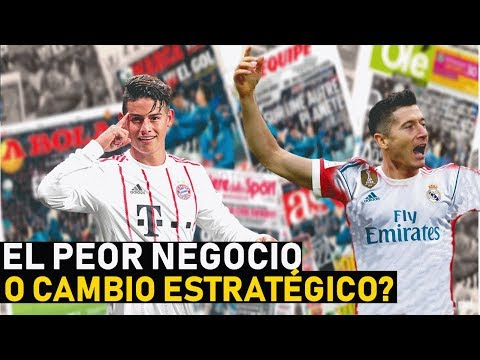 "EL REAL MADRID ""REGALÓ"" A JAMES RODRÍGUEZ AL BAYERN MUNICH O LO USARÁ POR LEWANDOWSKI?"