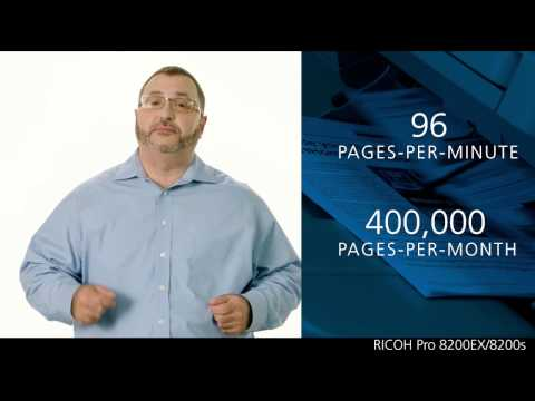 RICOH Pro 8200EX / 8200s B&W production printers with VCSEL technology