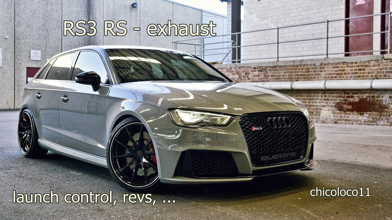 audi rs launch control rs sportabgasanlage youtube