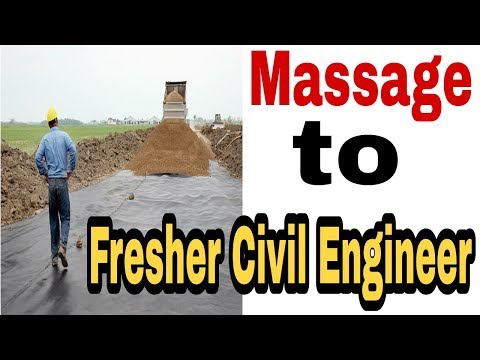Massage to Fresher Civil Engineer  Must Watch Every Fresher Civil Engineer