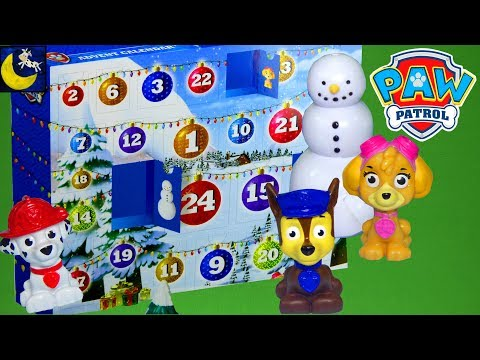 Paw Patrol Surprise Toys with the Christmas Advent Calendar Toy Reveal Chase Skye Rubble Count Down!